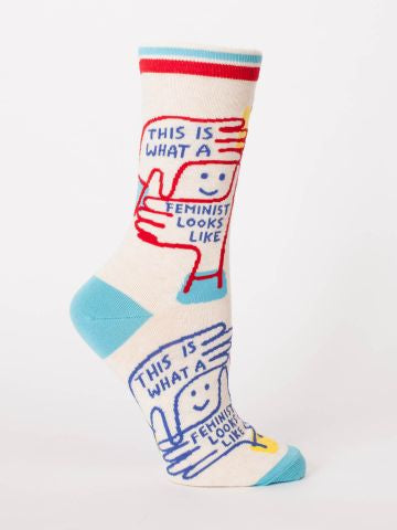 Blue Q Men's socks - This is what a Feminist looks like