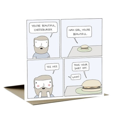Card - Ohh deer - Cheeseburger