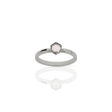 Meadowlark Hexagon Solitaire Rose Quartz