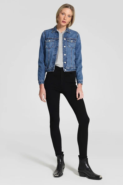 Nobody Denim Siren Skinny Ankle Jean - Power Black