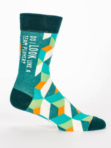 Blue Q Men's socks - Do I Look like a Team player?