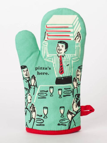 Blue Q oven mitt - Pizza's here