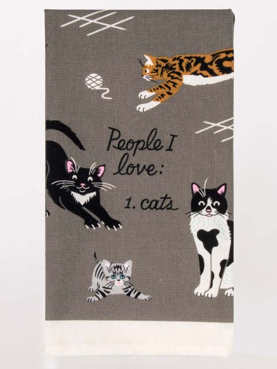 Blue Q teatowel - People I Love - Cats