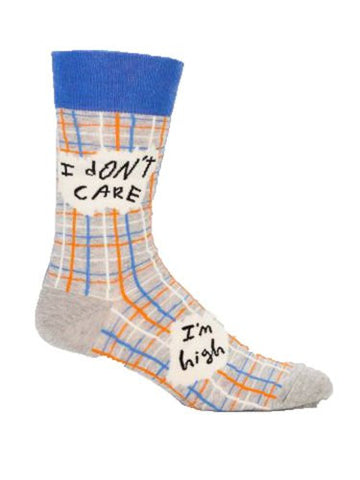 "Blue Q Socks - Men's I Don't Care I""m high"