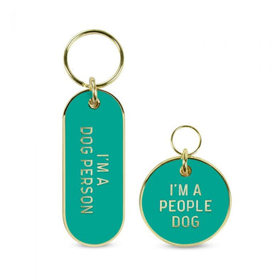 Fred Dog Person Keychain and Pet Tag