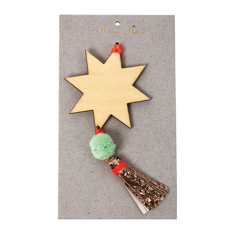 Meri Meri Star with Tassel decoration