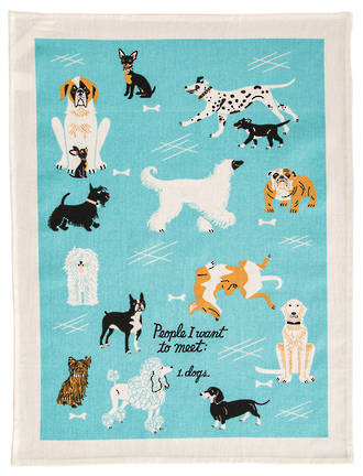 Blue Q teatowel - People I want to meet Dogs