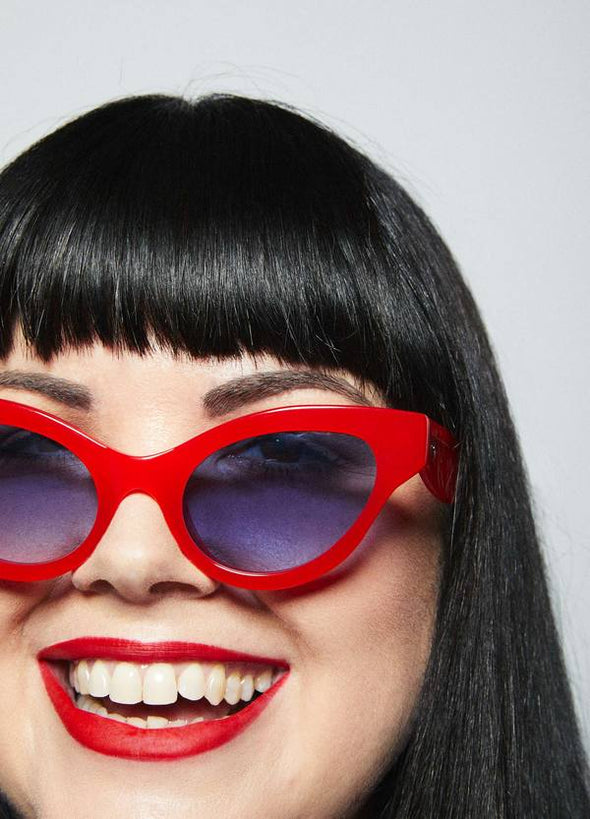 Georgia Perry Betty Sunglasses - Lipstick Red