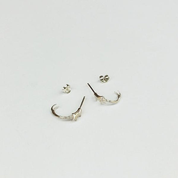 Jane Eppstein Insect Leg Hoop Earring - Silver
