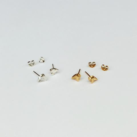 Jane Eppstein Tiny Bone Earrings -Silver