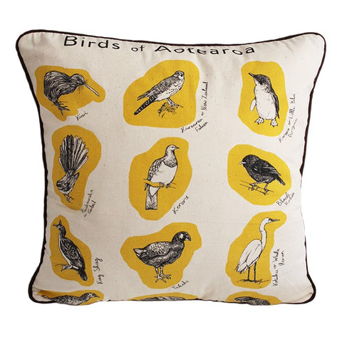 Dishy Birds of Aotearoa cushion