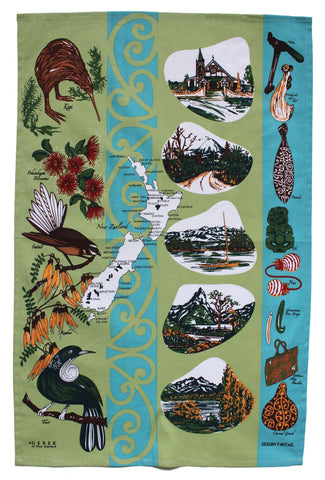 Dishy Fantail tea towel