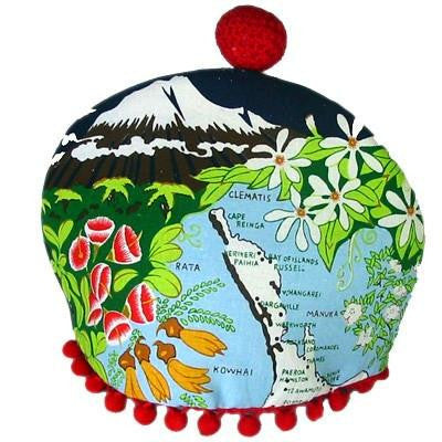 Dishy Flower Map tea cosy