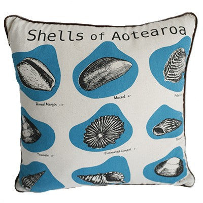 Dishy Shells of Aotearoa cushion