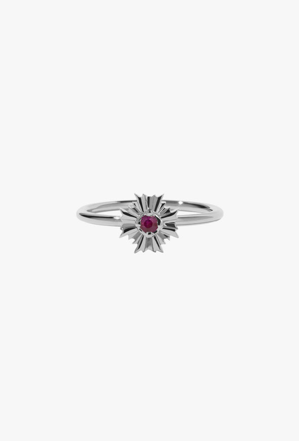 Meadowlark August Stacker Ring with Ruby