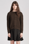 From Knitwear Willoughby Jumper - Black Pepper
