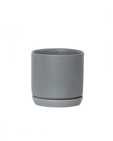 General Eclectic Oslo Plant Pot - grey fog small