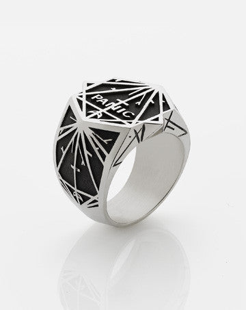 Meadowlark Panic Ring in Oxidised Silver
