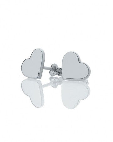 Meadowlark Heart stud earrings in silver