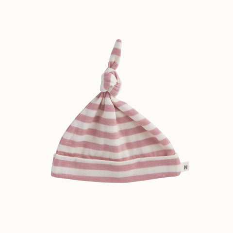 Nature Baby merino knotted beanie - Primrose French stripe