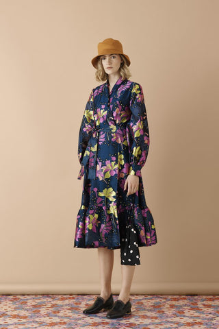 Stine Goya Niki Dress - Daffodil Indigo