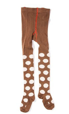 Hansel from Basel tights - polka dot brown and pink