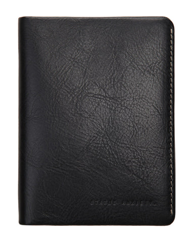 Status Anxiety Conquest Passport Wallet - Black