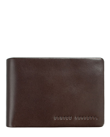 Status Anxiety Men's Jonah wallet in chocolate