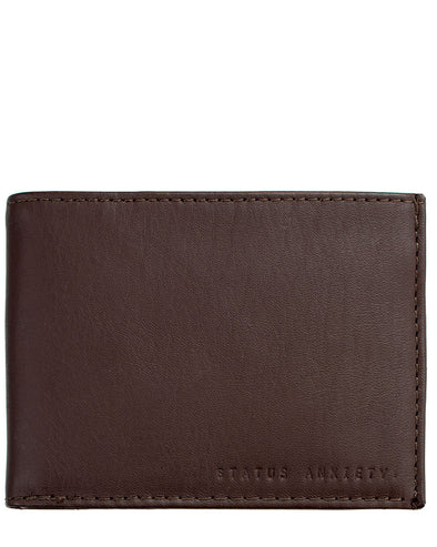 Status Anxiety Men's Noah wallet in chocolate