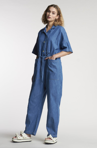 Kloke Other Focus Jumpsuit Mid-Wash Indigo Denim