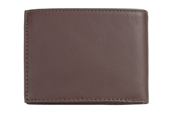 Status Anxiety Men's Noah wallet in chocolate - back