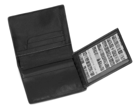 Status Anxiety Men's Nathaniel wallet in black photo flap