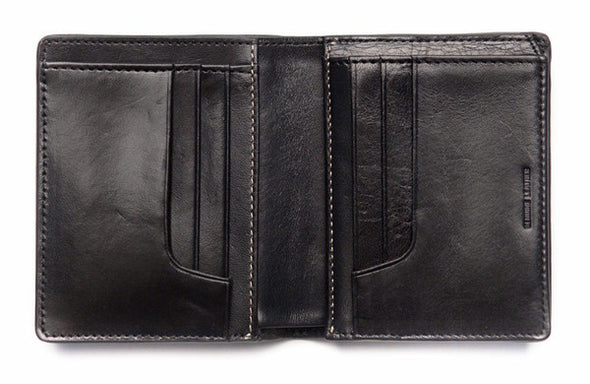 Status Anxiety Men's Nathaniel wallet in black open