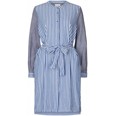 Lollys Laundry Vega Shirt Dress - Blue