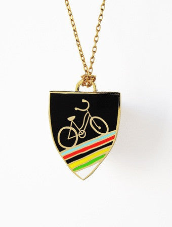 Yellow Owl Bike pendant
