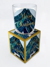 Hammond Gower Christmas Candle - Blue Valencia Orange