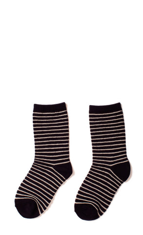 Hansel from Basel socks - stripe crew navy