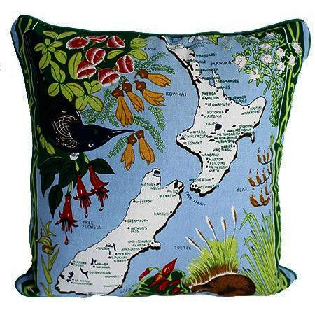 Dishy Flower Map cushion