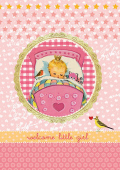 Card -  Roger La Borde Little Girl