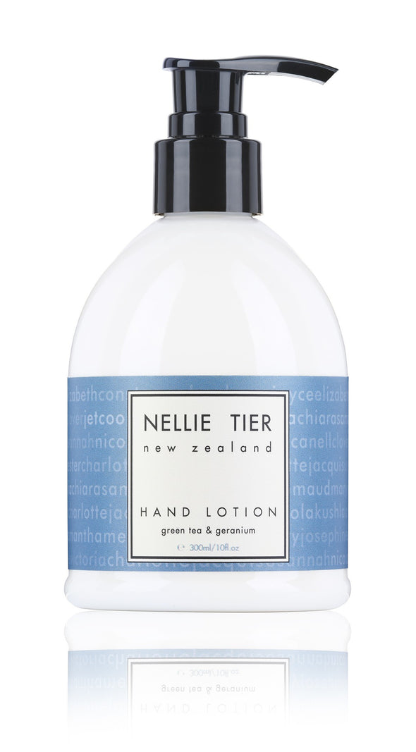 Nellie Tier hand lotion - green tea and geranium