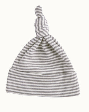 Nature Baby knotted beanie - Grey Stripe