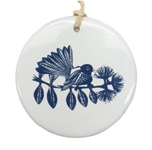 Jo Luping Hanging Ceramic Decoration - Piwakawaka1