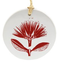 Jo Luping Hanging Ceramic Decoration - Pacific Pohutukawa1
