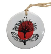 Jo Luping Hanging Ceramic Decoration - Vintage Pohutukawa