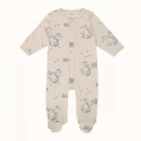 Nature Baby Cotton Stretch and Grow - Beehive Print