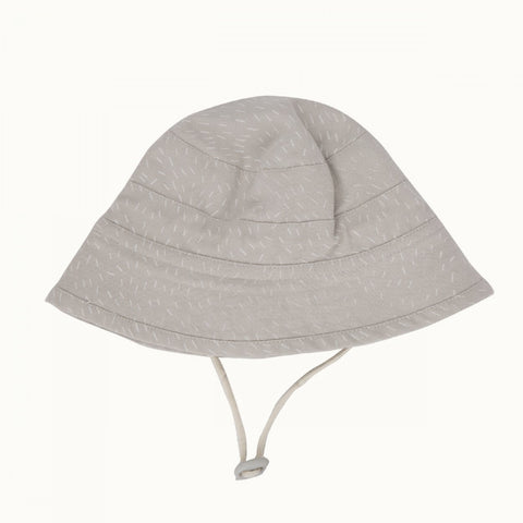 Nature Baby Bucket Sunhat - Dash Grey Print