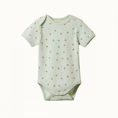 Nature Baby Short Sleeve bodysuit - Posey Blossom