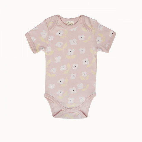 Nature Baby Short Sleeve bodysuit - Meadow Print