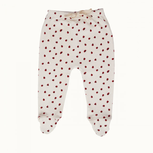 Nature Baby Footed Rompers - Ladybird