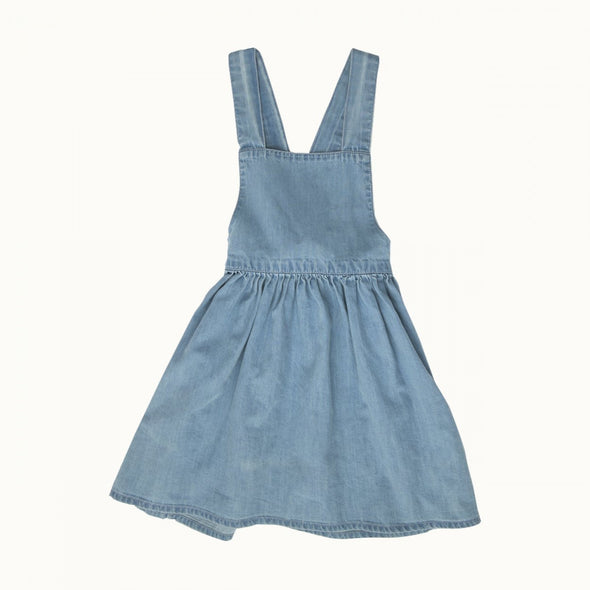 Nature Baby Pinafore Chambray Dress - Sky
